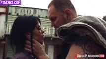 Скриншот Порно с сисястой ковбойшей на Диком западе