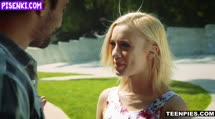 Скриншот Блондинка охмурила парня и повела его в госте